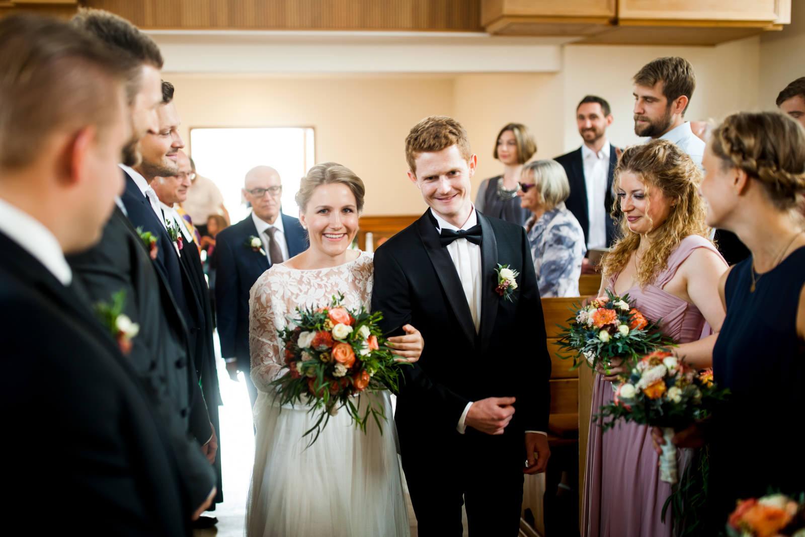 Einzug Braut und Bräutigam